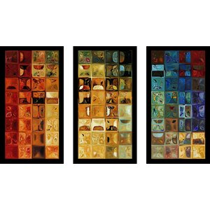 Tile Art 22 2008 Max by Mark Lawrence 3 Piece Framed Graphic Art Set by Picture Perfect International