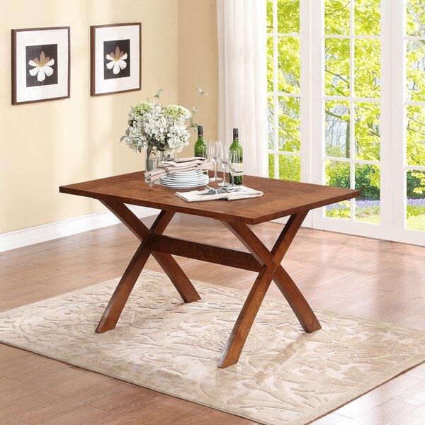Rosamond Trestle Dining Table by Alcott Hill