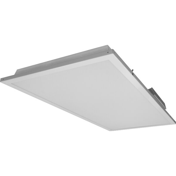 Contractor Friendly Troffer LED Semi Flush Mount in 3500K with Emergency Backup by NICOR Lighting