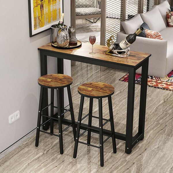 Plainfield 3 Piece Pub Table Set by Ebern Designs Ebern Designs