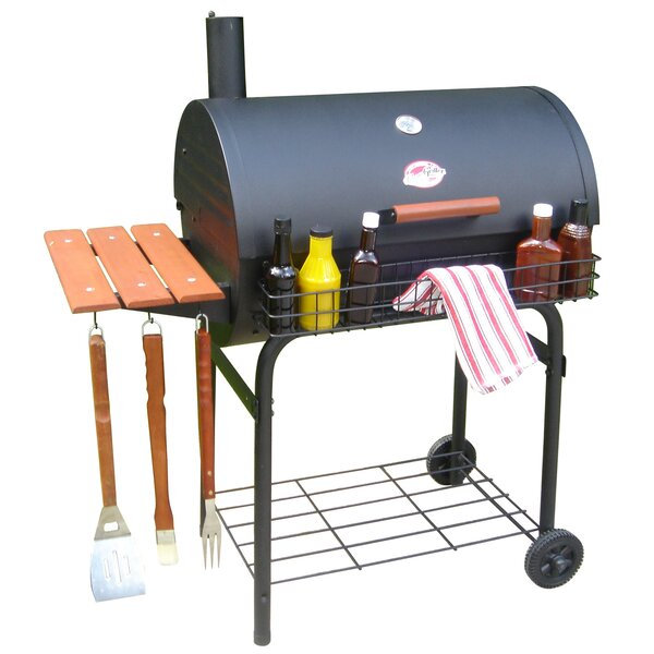 Pro Deluxe Barrel Charcoal Grill by Char-Griller