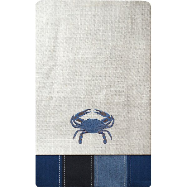 I Sea Life Embroidered Crab Napkin (Set of 4) by Rightside Design