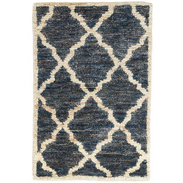 Casablanca Hand-Knotted Indigo Area Rug by Dash and Albert Rugs