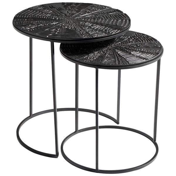 Quantum 2 Piece Nesting Tables By Cyan Design
