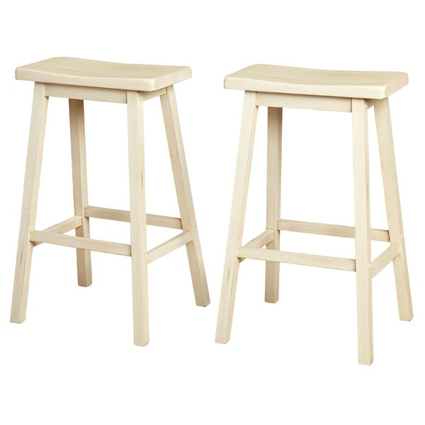 Wooden 30 Bar Stool (Set of 2) by Gracie Oaks