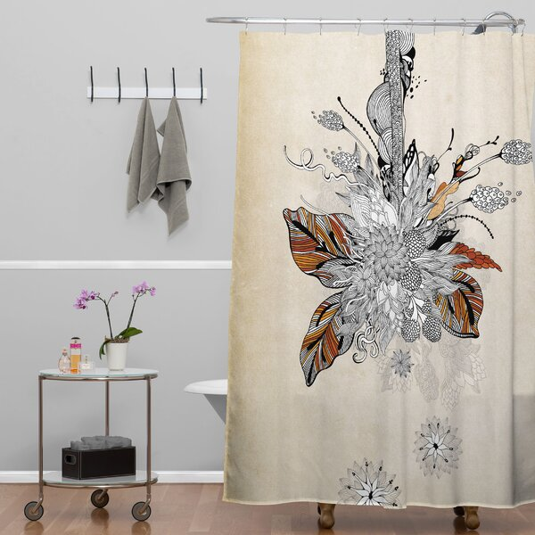 Herkimer Floral 2 Shower Curtain by Latitude Run