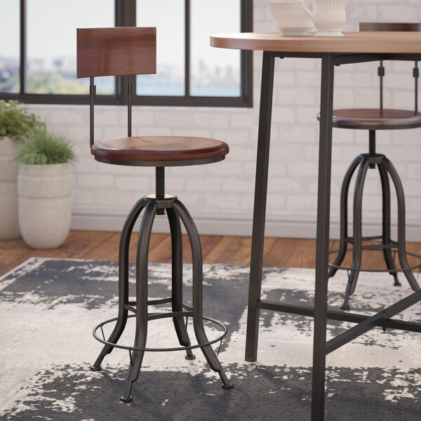 Nevada Adjustable Height Swivel Bar Stool by Trent Austin Design