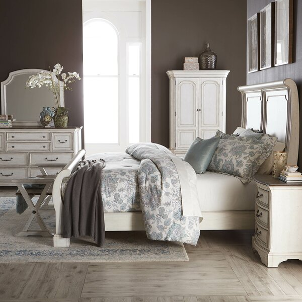 Corona Sleigh Configurable Bedroom Set by One Allium Way