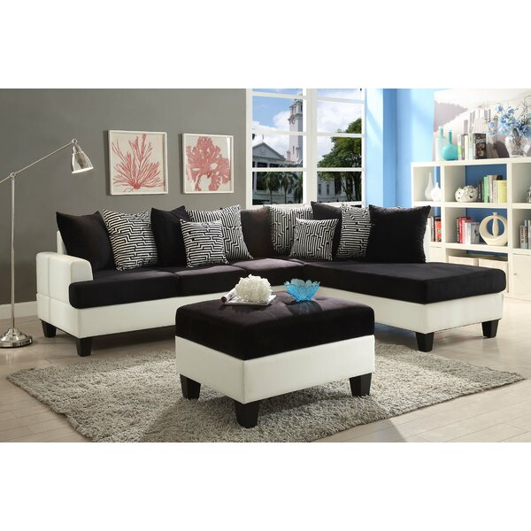 New Look Rossa Reversible Sectional by Orren Ellis by Orren Ellis