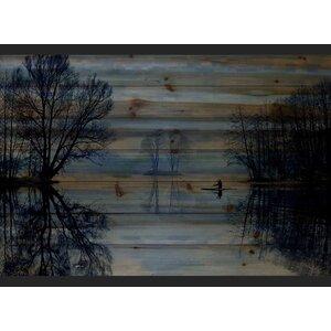 'Burntroot Lake' by Parvez Taj Painting Print on Natural Pine Wood by Parvez Taj