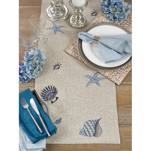 Apsel Sea My Stitches Table Runner by Highland Dunes