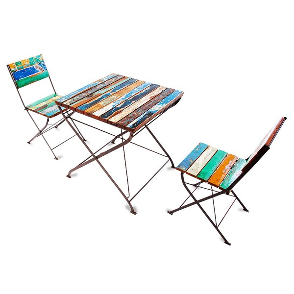 Teak for Two 3 Piece Bistro Set by EcoChic Lifestyles