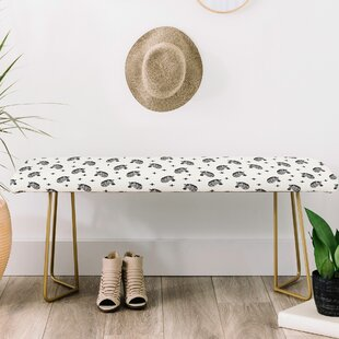 Little Arrow Co Modern Zebras Upholstered Bench