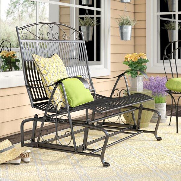 Nocona Patio Glider Bench by Fleur De Lis Living