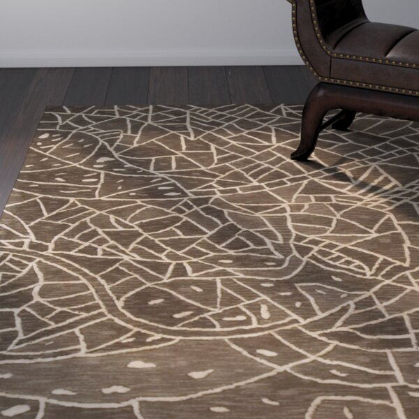 Malila Hand-Tufted Brown Area Rug by World Menagerie