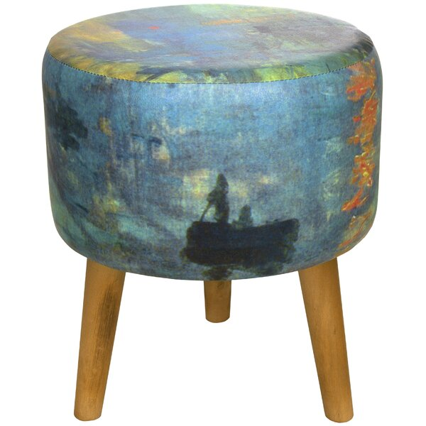 Monet Impression Sunrise Stool by Oriental Furniture