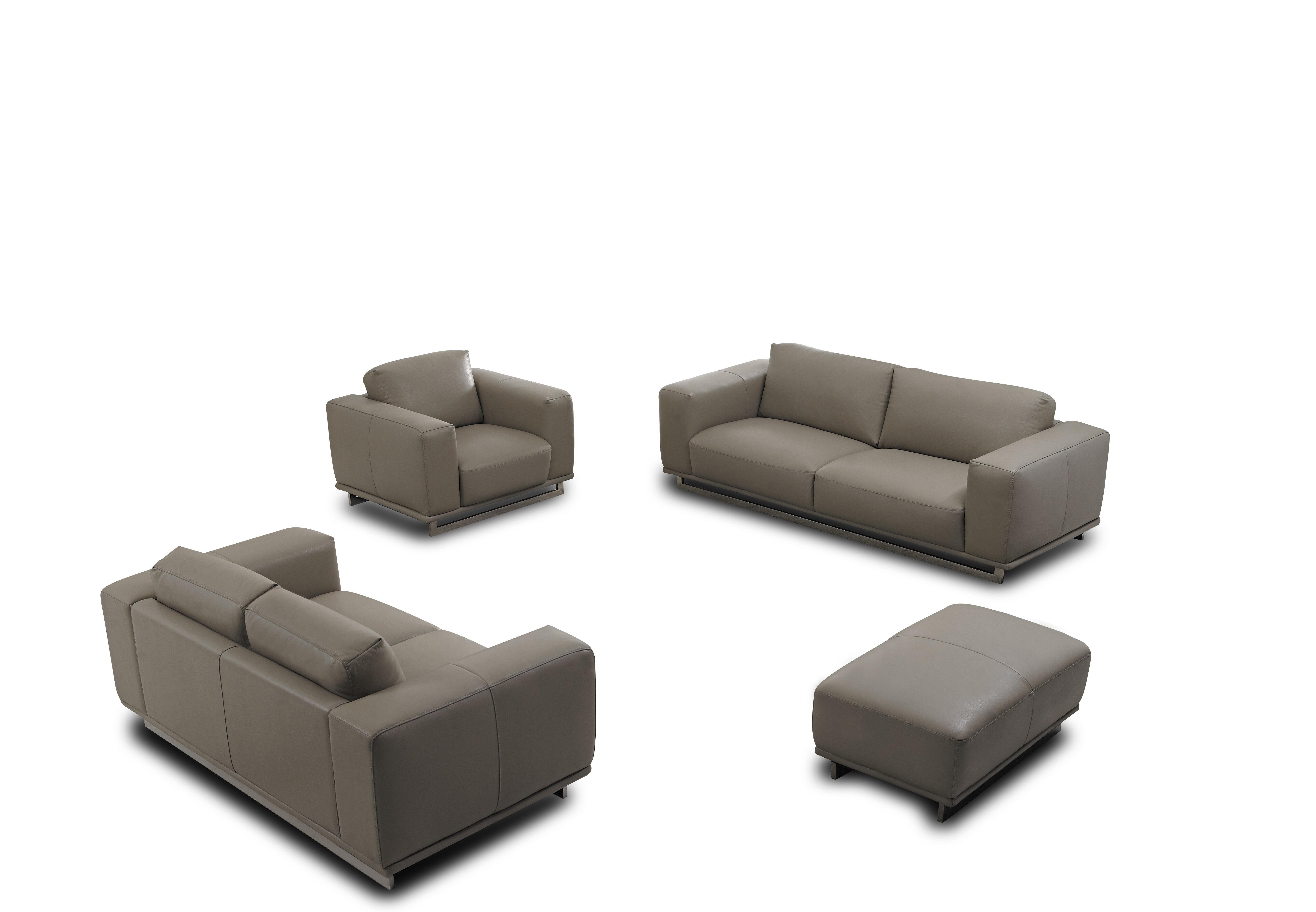 DavidDivaniDesigns 4 Piece Leather Living Room Set | Wayfair