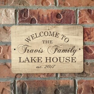 Add A Touch Of Sophisticated Vintage Style To Your Lake House With This Charming Personalized Metal Sign Featuring Distressed