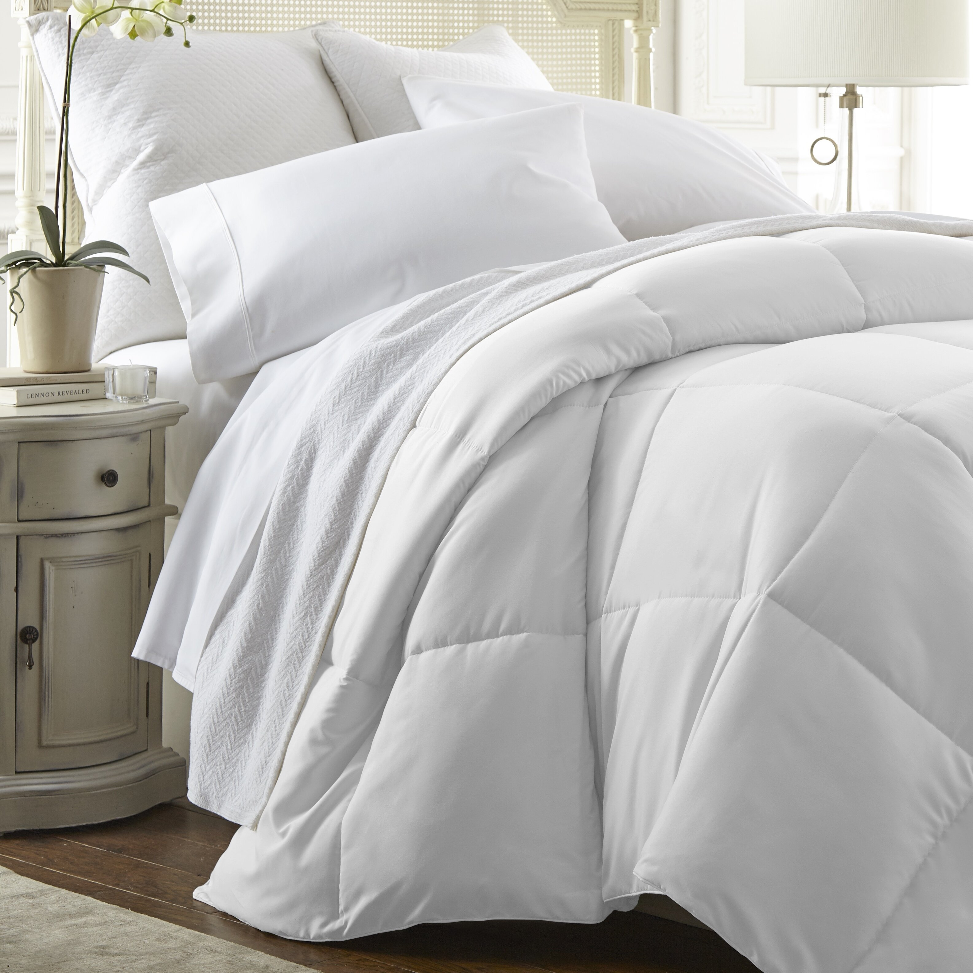 DOUBLE BED SIZE QUILT 90/% MUSKOVY DUCK DOWN 7 BLANKET WARMTH CHANNEL STYLE DOONA