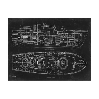 Inked and screened type writing machine blueprint graphic art wayfair boat blueprint 1 graphic art print malvernweather Images