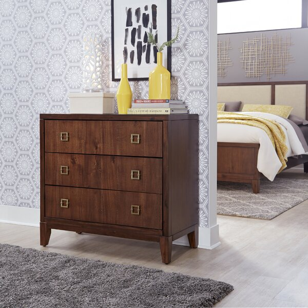 Robbinsdale 3 Drawer Chest by Wrought Studio