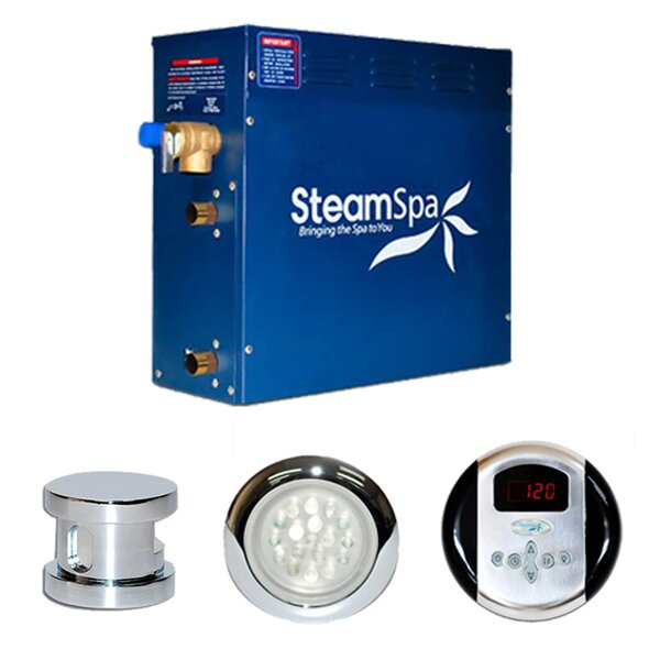 SteamSpa Indulgence 9 KW QuickStart Steam Bath Generator Package by Steam Spa