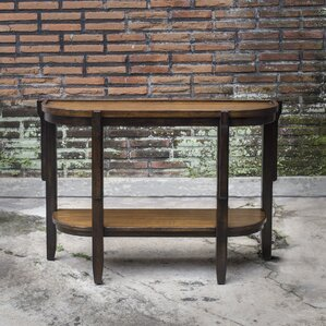 Eugenie Wooden Console Table by Bloomsbury Market