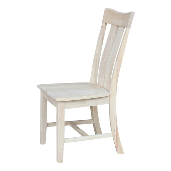 Best #1 Mountain View Solid Wood Dining Chair (Set Of 2) By August Grove Cool
