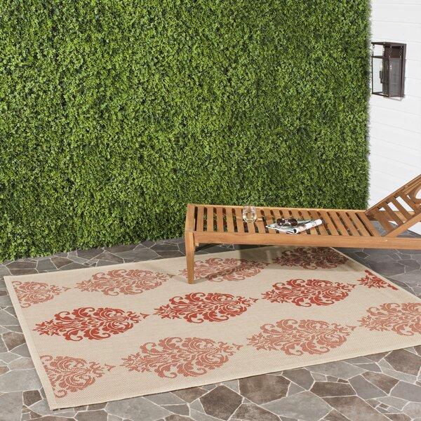 António Flatweave Natural/Red Indoor/Outdoor Area Rug