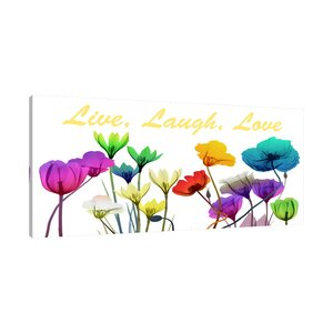 'Live Laugh Love' Graphic Art Print on Wrapped Canvas by Latitude Run