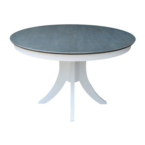Julio Pedestal Solid Wood Dining Table by Red Barrel Studio