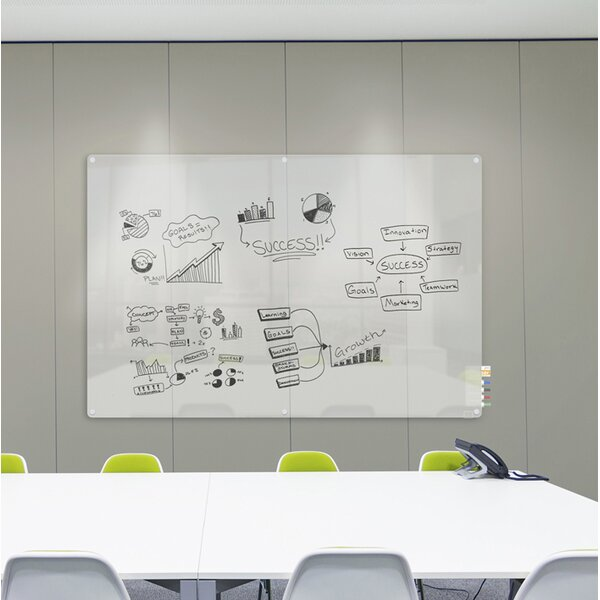 Ghent Harmony Frosted Glass Whiteboard with Radius Corners by Ghent