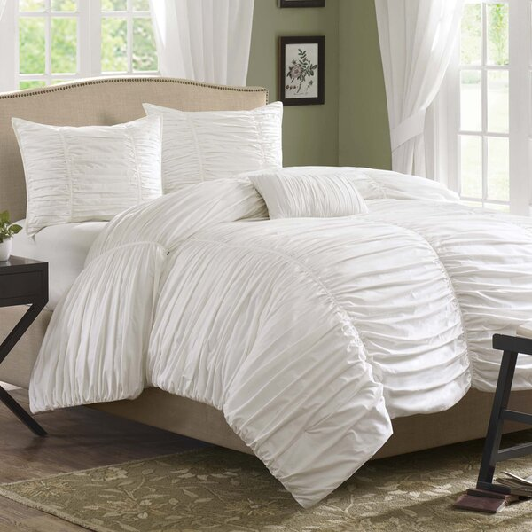 Aldeburgh 4 Piece Duvet Cover Set by House of Hampton