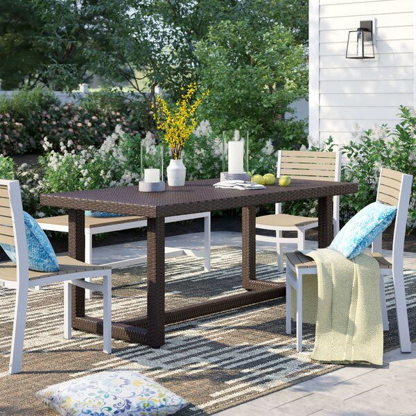 Cabral Wicker Dining Table By Sol 72 Outdoor
