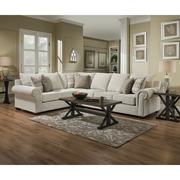 Della Left Hand Facing Sectional by Alcott Hill Alcott Hill