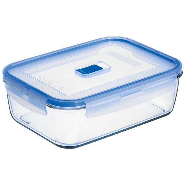 Pure Box Active Rectangular 66.4 Oz. Food Storage Container (Set of 6) by Luminarc