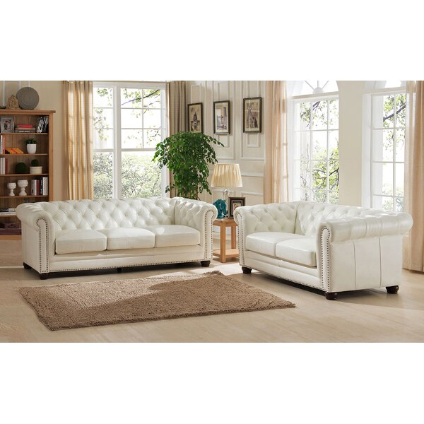 Crissyfield 2 Piece Leather Living Room Set by Rosdorf Park