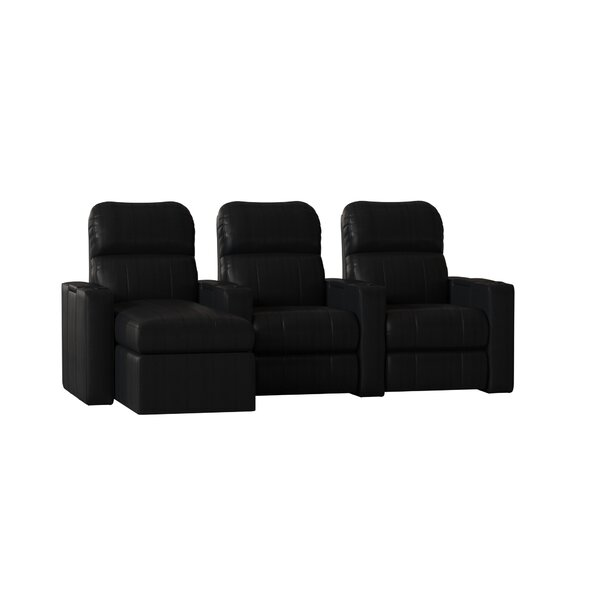Leather Home Configurable Seating (Row Of 3) By Red Barrel Studio