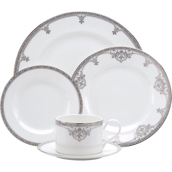 Michelangelo Bone China 5 Piece Place Setting Set, Service for 1 by Oneida