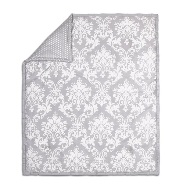 Damask Cotton Quilt by The Peanut Shell