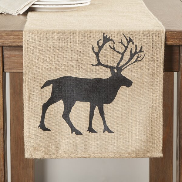 Greyrock Burlap Table Runner by Loon Peak