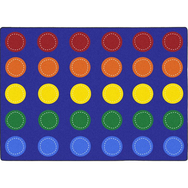Amalthea Spaces and Places Blue Area Rug by Zoomie Kids