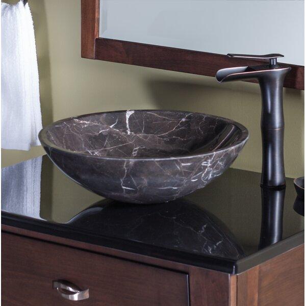 Stone Circular Vessel Bathroom Sink by Novatto