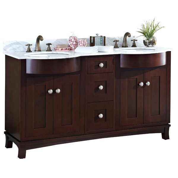 60 Double Transitional Bathroom Vanity Set by American Imaginations