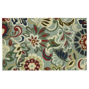 Affordable Stahlman Green/White Area Rug By Red Barrel Studio