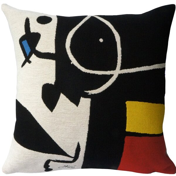 Femme, Oiseaux 1976  Throw Pillow by Jules Pansu