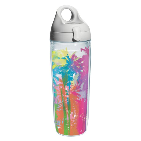 Sun and Surf Palm Tree Water Bottle Plastic by Tervis Tumbler