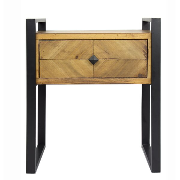 Jakin End Table with Storage by Foundry Select