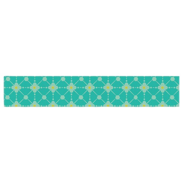 Nicole Ketchum Hive Blooms Table Runner by East Urban Home