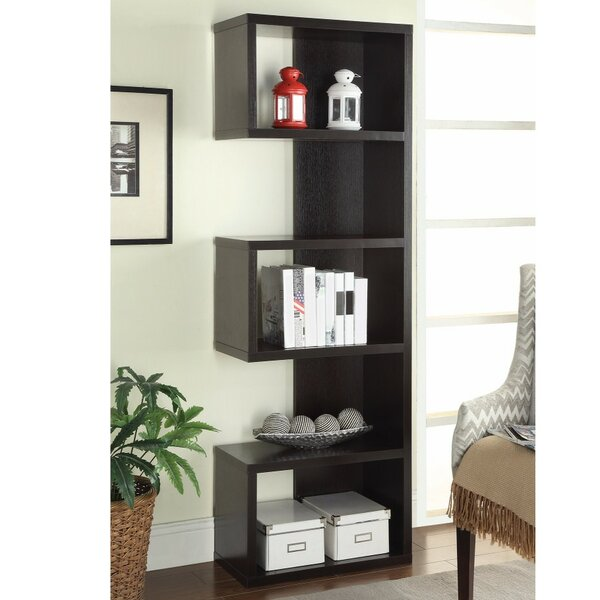 Cyrene Semi Backless Wooden Corner Unit Bookcase by Wrought Studio